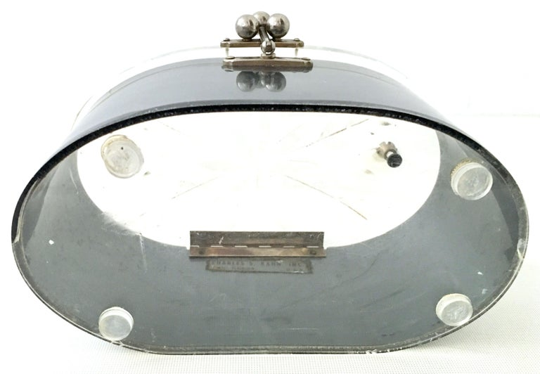 Mid-20th Century Art Deco Lucite & Chrome Box Style Hand Bag By, Charles Kahn For Sale 6