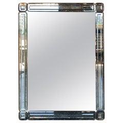 Mid-20th Century Art Deco Venetian Style Mirror, circa 1970s