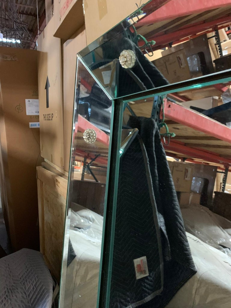 Mid-20th Century Art Deco Venetian Style Mirror with Rosettes For Sale 4