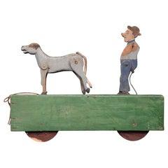 Mid-20th Century Automaton Folk-art Childs Toy