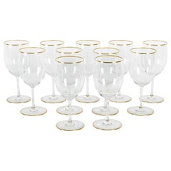 Mid-20th Century Baccarat Crystal Stemware Wine Water Service / Eleven People