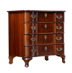 Mid-20th Century Baroque Inspired Walnut Chest of Drawers