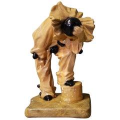 Mid-20th Century Belgian Plaster Pierrot Clown