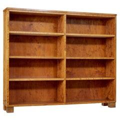 Mid 20th Century Birch Tall Open Bookcase