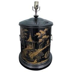 Mid-20th Century Black Tea Tin Lamp