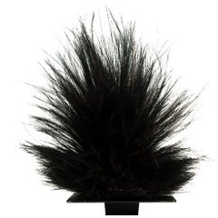Mid-20th Century Black Tribal Cassowary Feather Headdress, Papua New Guinea