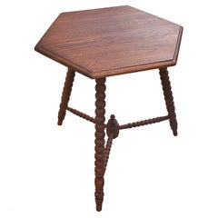 Mid-20th Century Bobbin Side Table with on Tripod legs