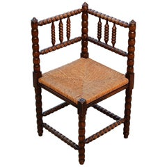Mid-20th Century Bobbin Turned Corner Chair