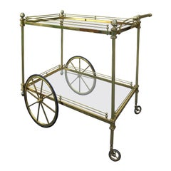 Mid-20th Century Brass Bar Cart