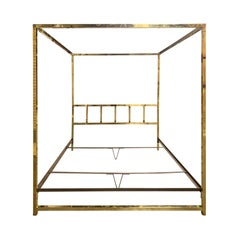 Mid-20th Century Brass Bed in the Style of Maison Jansen