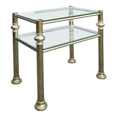 Mid-20th Century Brass and Glass Table by Donghia