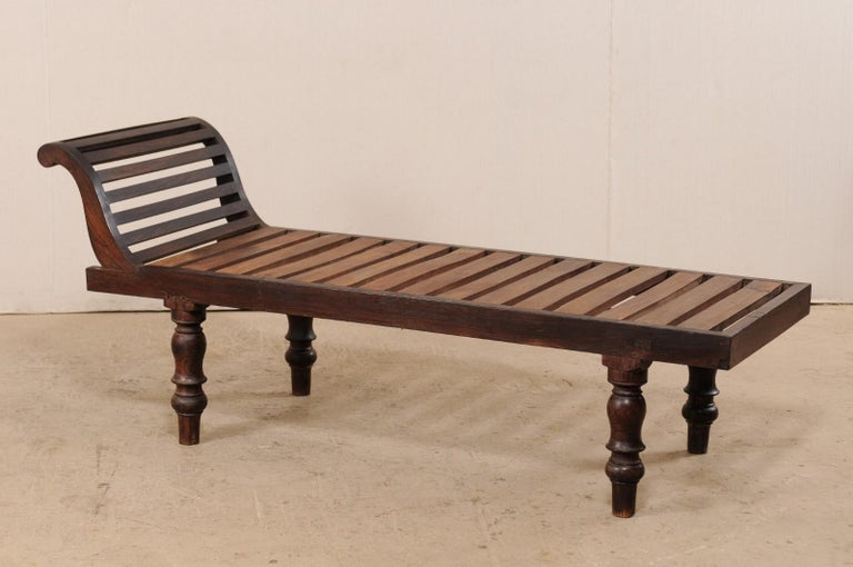 Remarkable Mid 20Th Century British Colonial Wood Chaise Lounge Chair Ncnpc Chair Design For Home Ncnpcorg
