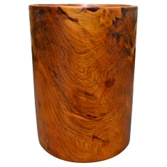 Mid-20th Century Burl Pencil Cup