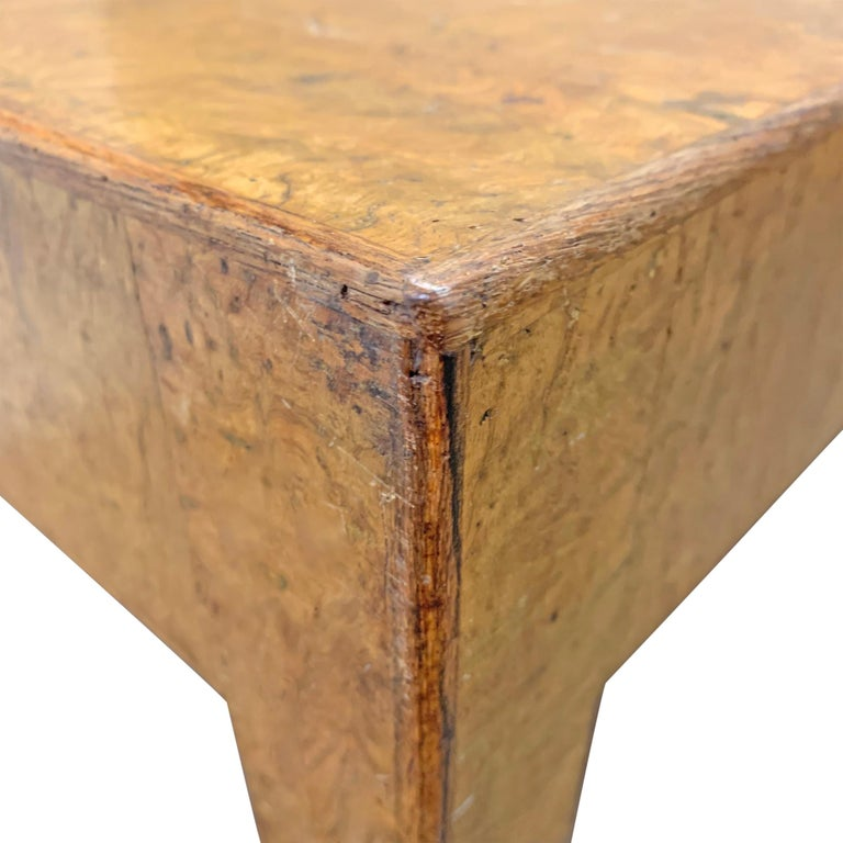 Mid-20th Century Burl Wood Low Table For Sale 2