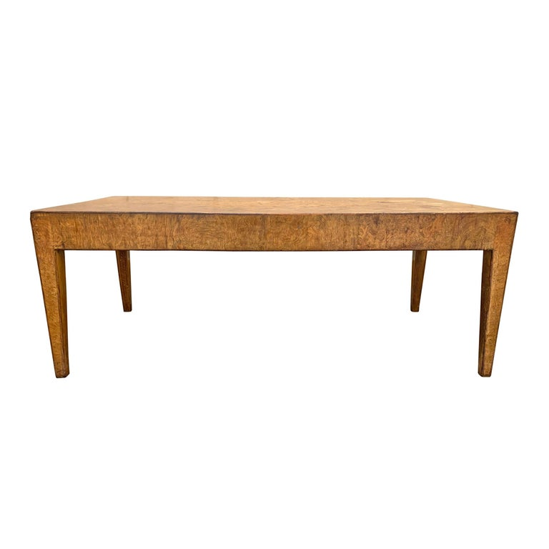 Mid-20th Century Burl Wood Low Table For Sale