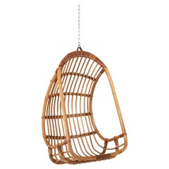 Mid-20th Century Cane Hanging Chair