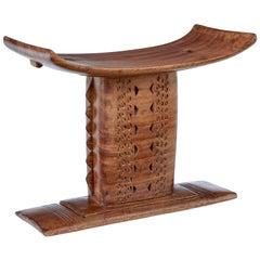 Mid-20th Century Carved Hardwood Ashanti Stool