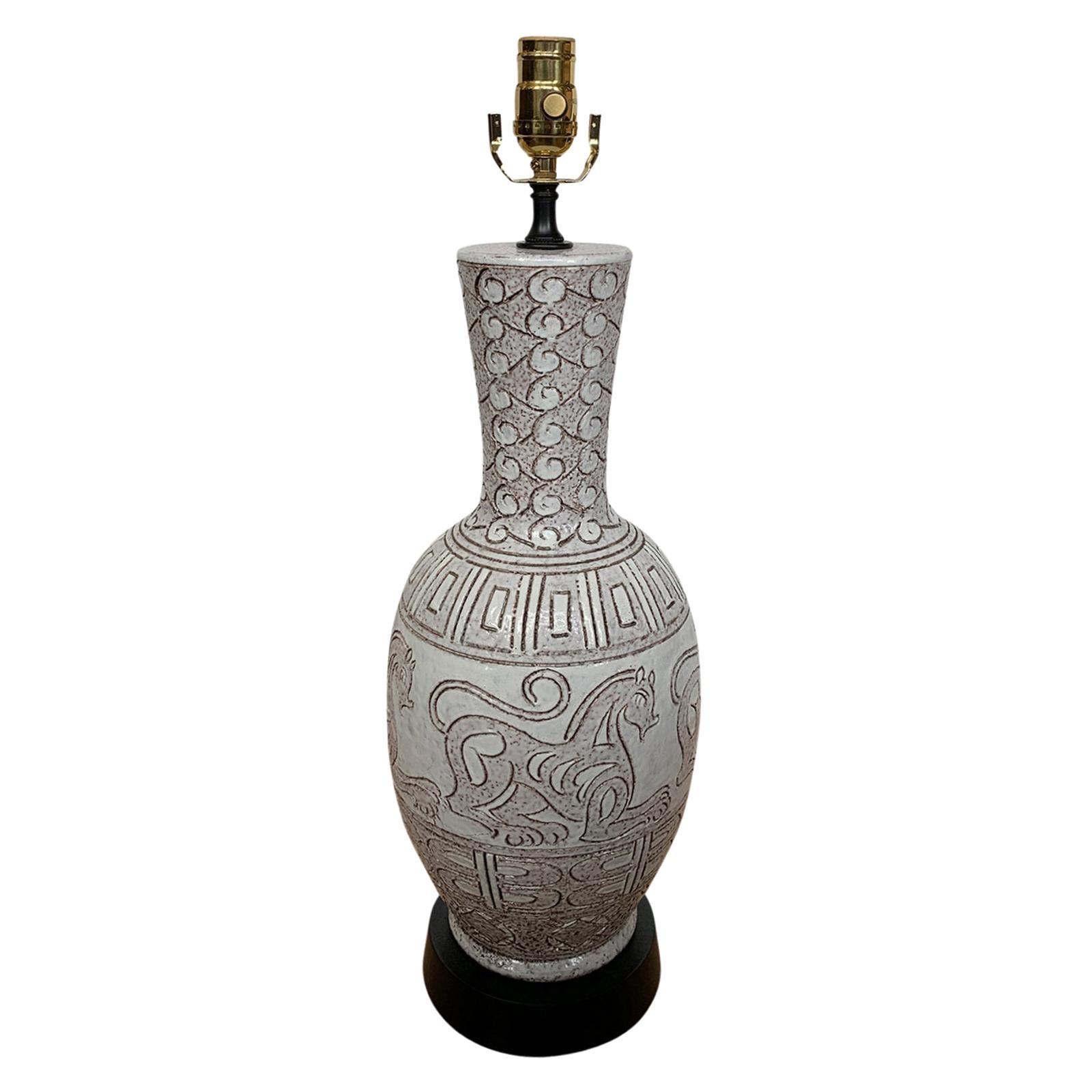 Mid-20th Century Ceramic Lamp
