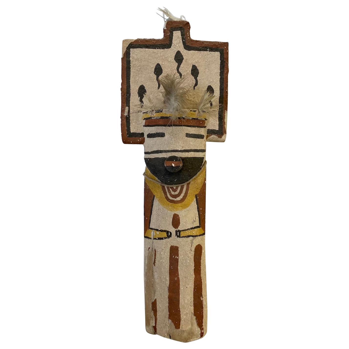 Mid-20th Century Child's Painted Wood Kachina Doll