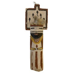 Mid-20th Century Child's Painted Wood Kachina Doll