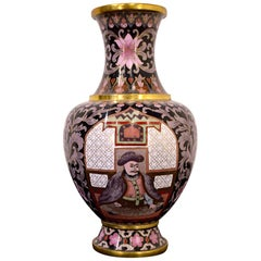 Mid-20th Century Chinese Cloisonné Vase