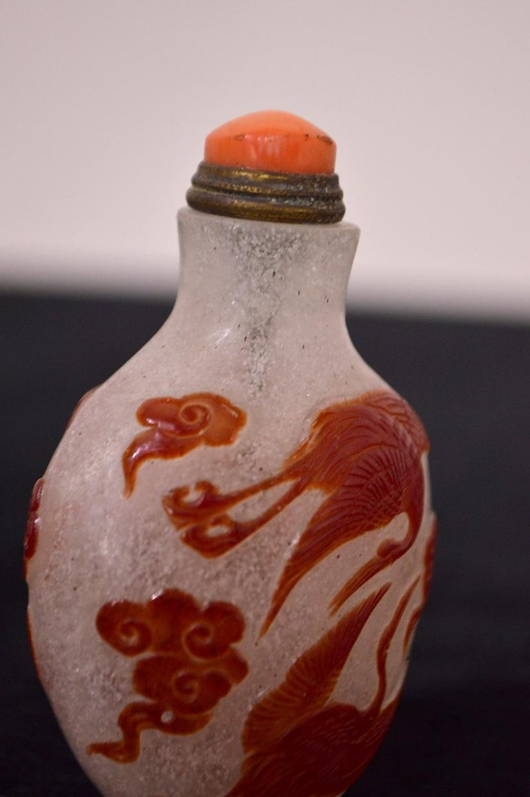 Mid-20th Century Chinese Glass Snuff Bottle For Sale 5