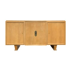 Mid-20th Century Credenza with Three Doors, Five Interior Drawers