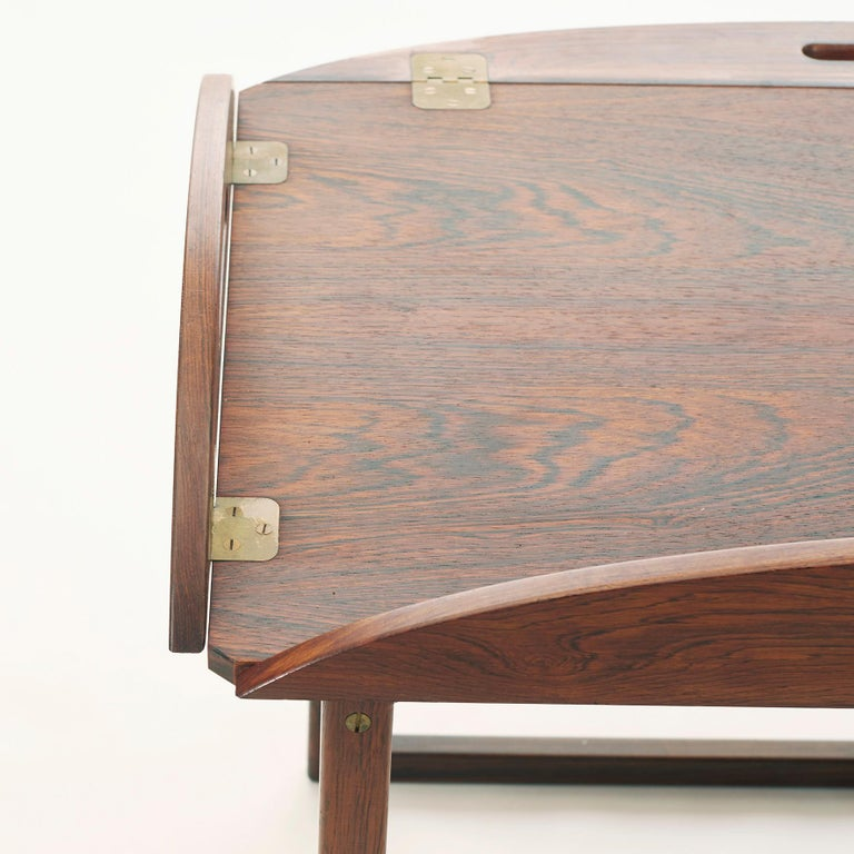 Mid-20th Century Danish Butlers Tray by Svend Langekilde in Rosewood In Good Condition In Nordhavn, DK
