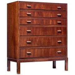 Mid-20th Century Danish Teak Chest of Drawers