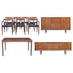 Mid-20th Century Danish Teak Dining Room Suite by Bramin