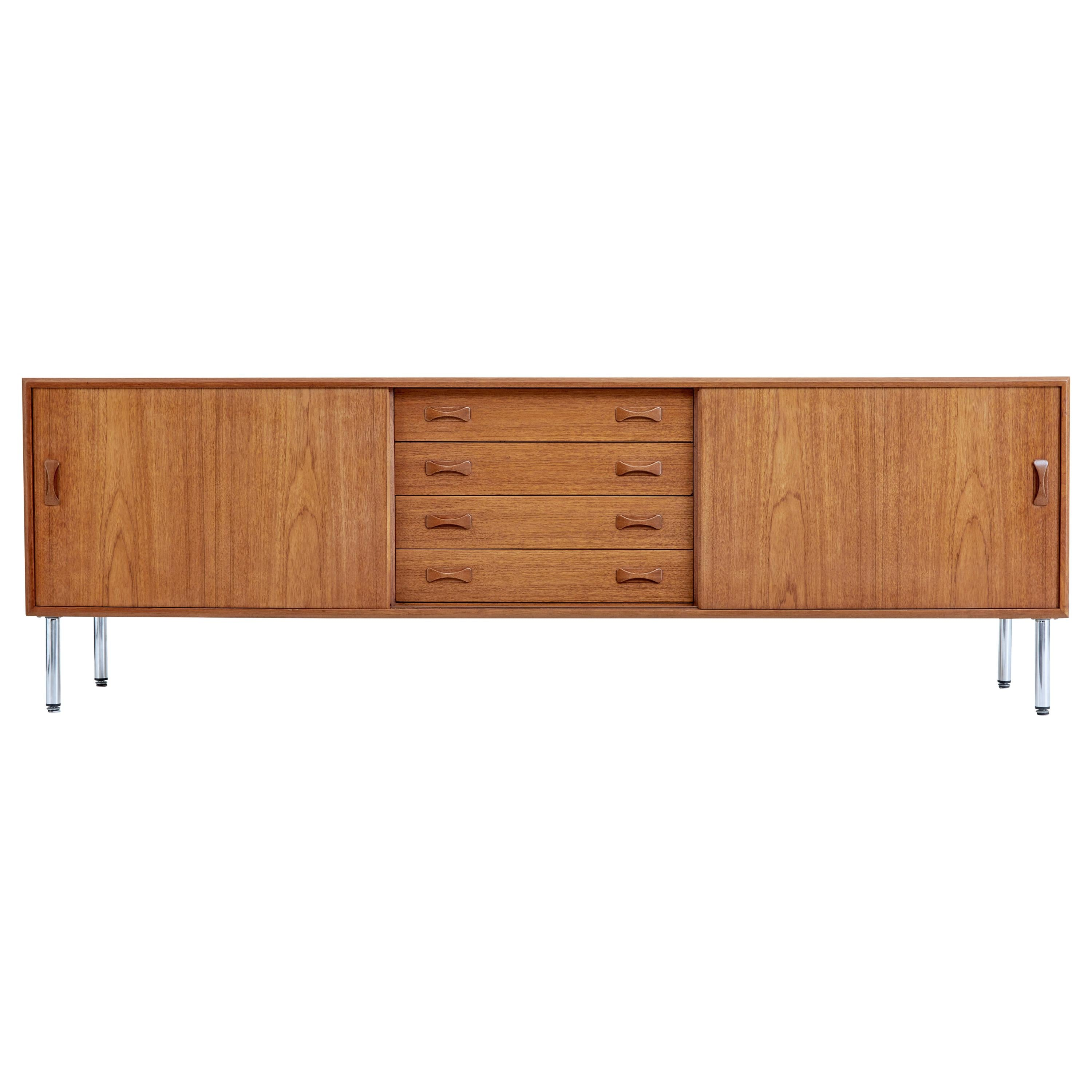 Mid-20th Century Danish Teak Sideboard by Clausen & Sons