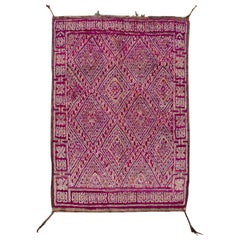 Mid-20th Century Dark Purple Moroccan Tribal Wool Rug