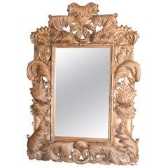 Mid-20th Century Dazzling Hand Carved Hard Sheesham Wood Mirror