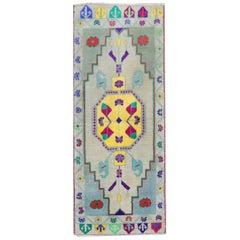 Mid-20th Century Dazzling Turkish Anatolian Mat Size Rug