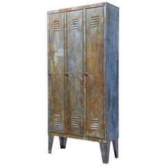 Mid-20th Century Distressed Industrial Cabinet