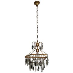 Mid-20th Century Dutch Glass Chandelier