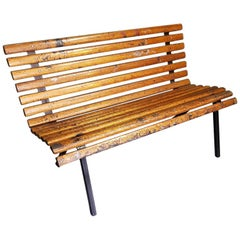 Mid-20th Century Dutch Industrial Dressing Room Bench from a Shipyard