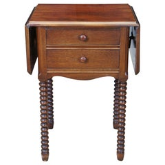 Mid-20th Century Early American Style Dropleaf Side End Accent Table Nightstand