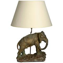 Mid-20th Century Elephant Lamp