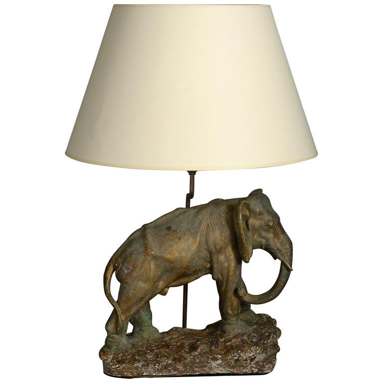 Mid-20th Century Elephant Lamp For Sale