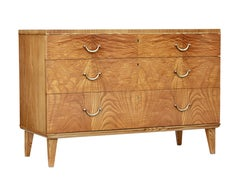 Mid-20th Century Elm Chest of Drawers by SMF Bodafors