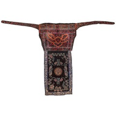 Mid-20th Century Embroidered Baby Carrier, Shui Ethnic Minority. Guizhou, China