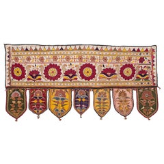 Mid-20th Century Embroidered Tribal Banjara Wall Hanging, India