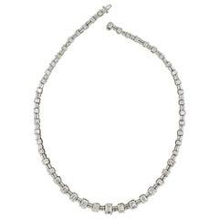Mid-20th Century Emerald-Cut Diamond Necklace, 33.00 Carat 'GIA'