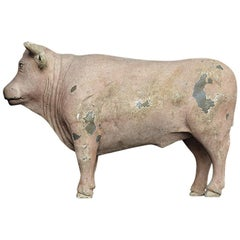 Mid-20th Century English Butchers Trade Sign Bull Figure