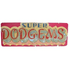 Mid-20th Century English Fairground Double Sided Sign