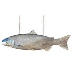 Mid-20th Century English Huge Fish Mongers Trade Sign