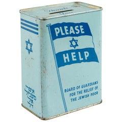 Mid-20th Century English Tin Charity Box