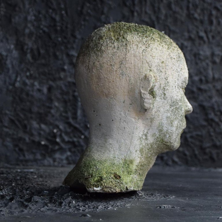 Mid-20th Century English Weathered Ghostly Plaster Bust In Fair Condition In London, GB