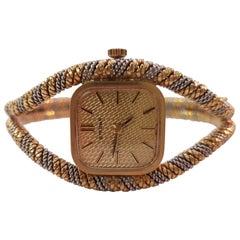 Mid-20th Century Eterna 18 Karat White and Yellow Gold Wristwatch